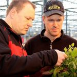 """Timmermans (l) tegen Van der Sanden: """"Bladmeststof zorgt voor gezonde, compacte planten."""""""