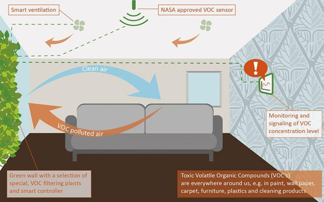Consortium werkt aan plantenwand voor actieve luchtzuivering