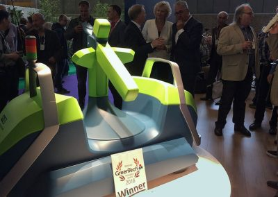 va won the GreenTech Innovation Award 2016 at the international trade show in Amsterdam in the category Equipment as well as the overall winner.