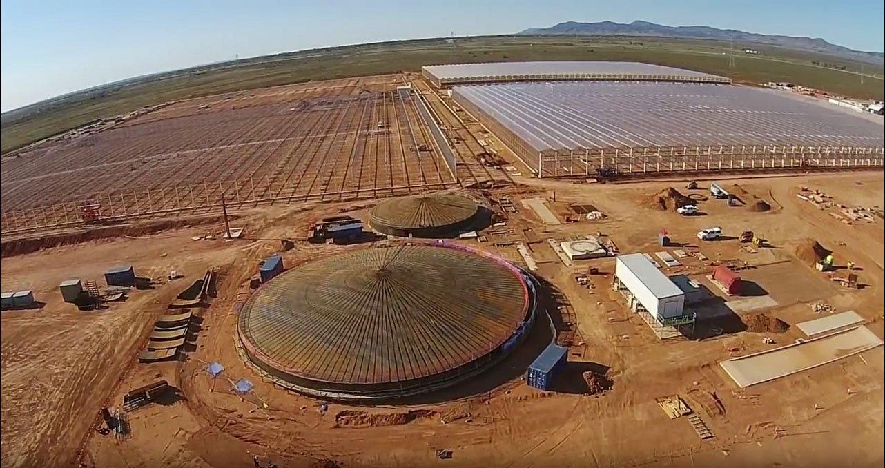 tuinbouw, innovatie, glastuinbouw, technologie, techniek, kassenbouw, van der hoeven, sundrop farms, port augusta, australie, groenteteelt, kassenbouwproject, solar, zonnewarmte, zonne-energie, zonnecentrale, zeewater, ontzilting, gietwater, tuinbouw in droge gebieden