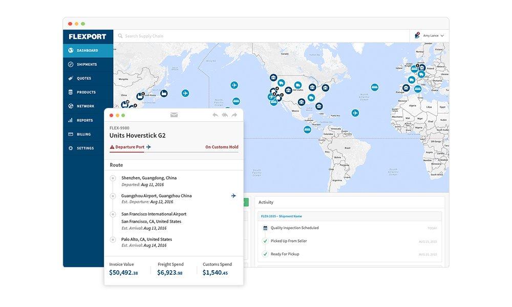 Start-up Flexport zorgt voor disruptie in vrachtvervoer
