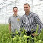 Freesiatelers Peter en Pieter Hofland besteden veel aandacht aan een optimale klimaatbeheersing.