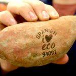 zoete aardappel met natural branding