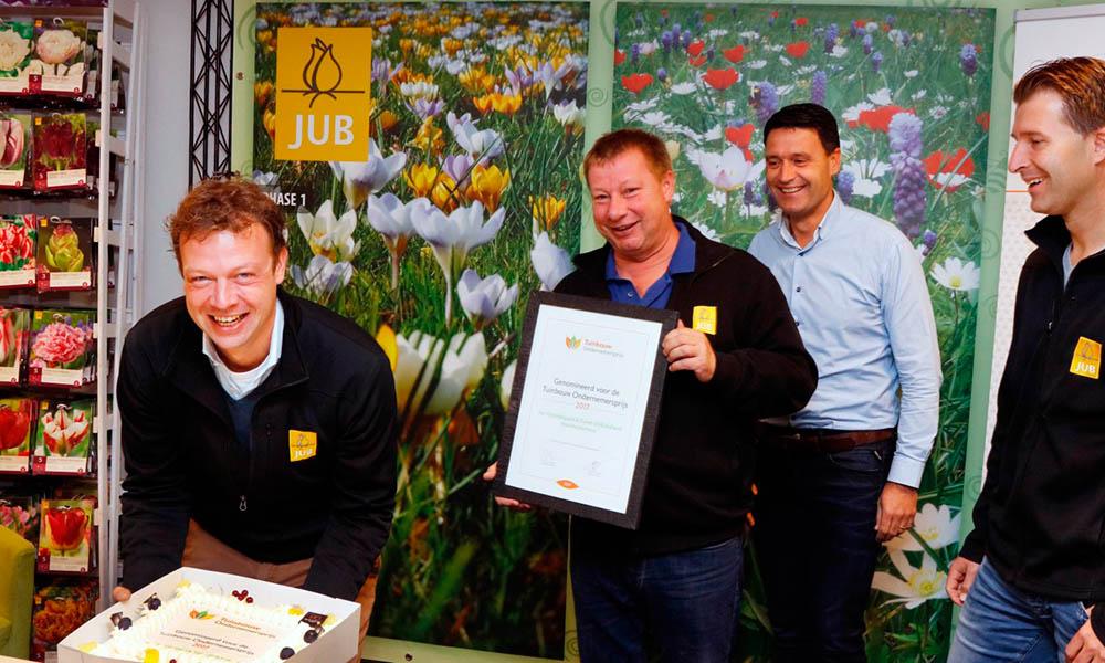 JUB Holland, winnaar van de Tuinbouw Ondernemersprijs 2017