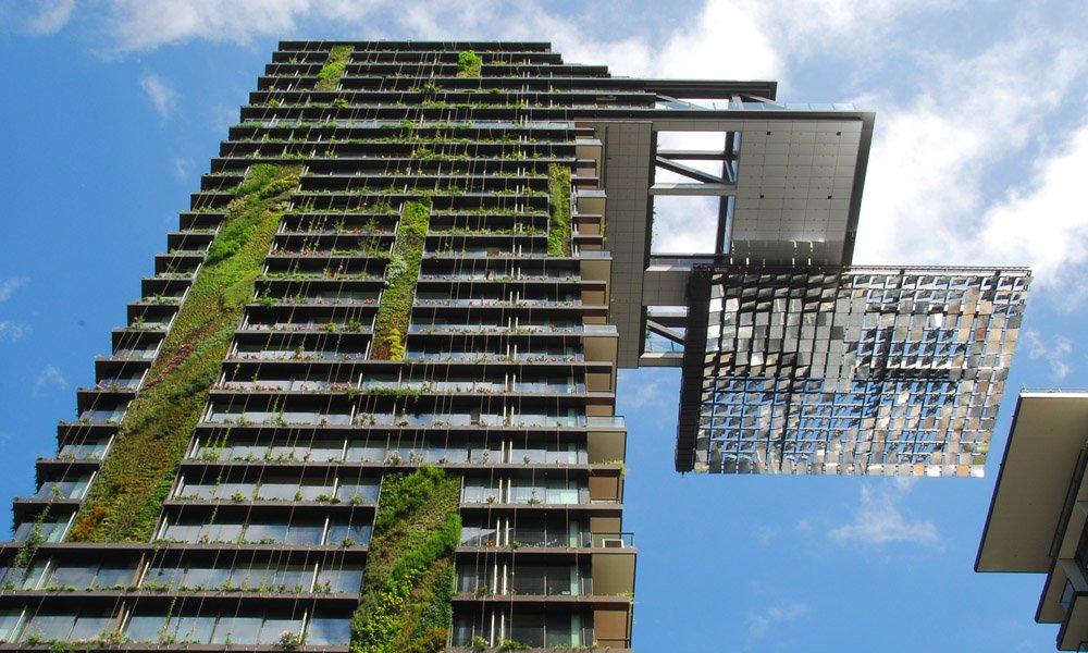 Het toenemende gebruik van levend groen bij het bouwen en ontwerpen van gebouwen brengt kansen met zich mee voor de tuinbouw.