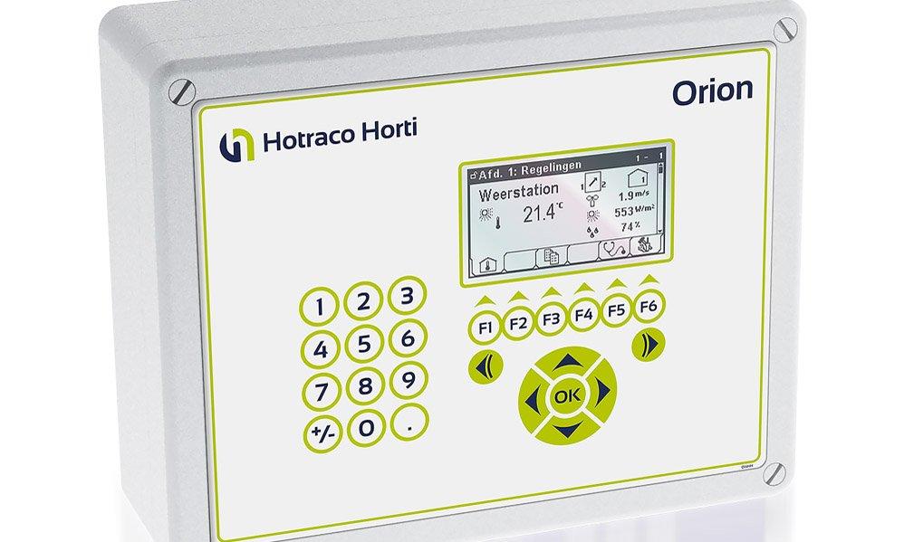 De Orion-CG is de nieuwe klimaatcomputer van Hoeraco Horti, speciaal bedoeld voor kleine en middelgrote teelten.