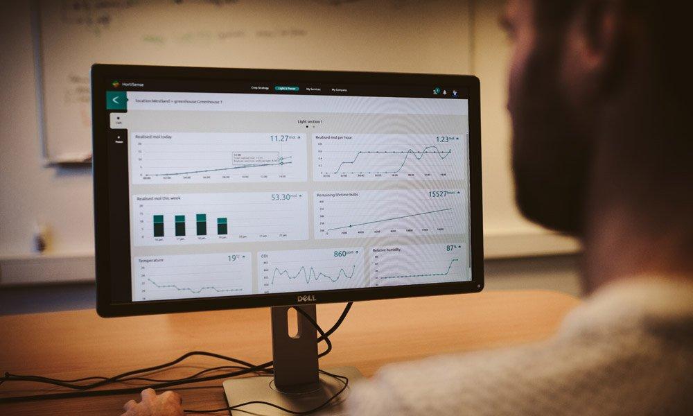 Hortense van Hortilux Schreder is een digitaal platform dat de teler meer controle en inzicht geeft in groeilicht en de groeilichtinstallatie.