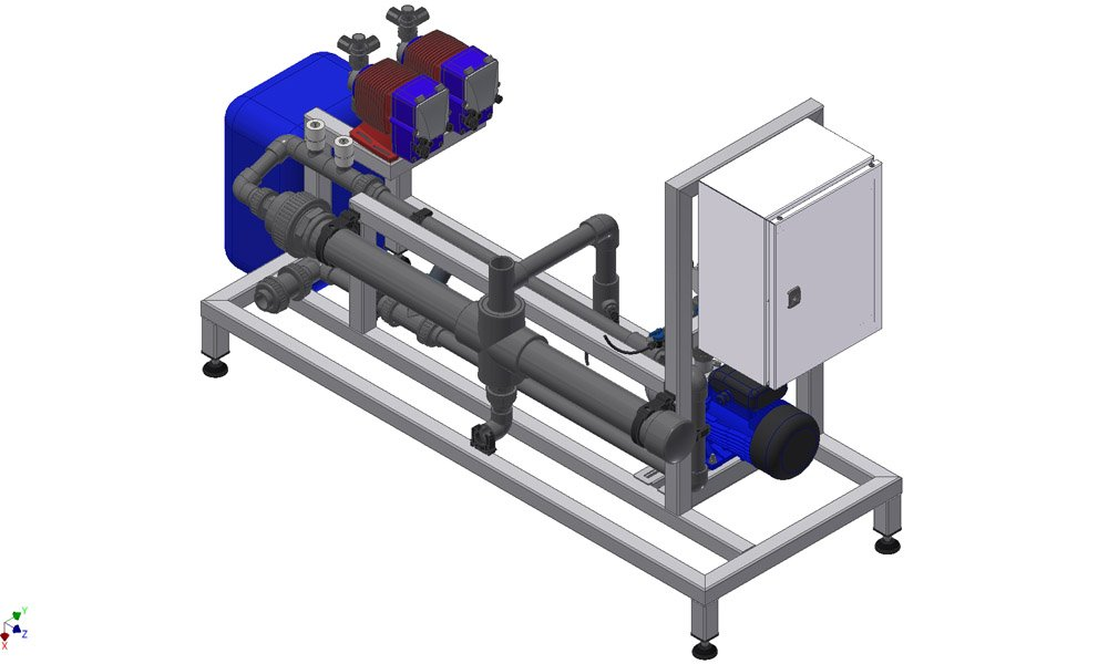 De Vialux E-line kan puur voor de behandeling van lozingswater worden ingezet als systeem of als hybride-oplossing met de E-Line module.