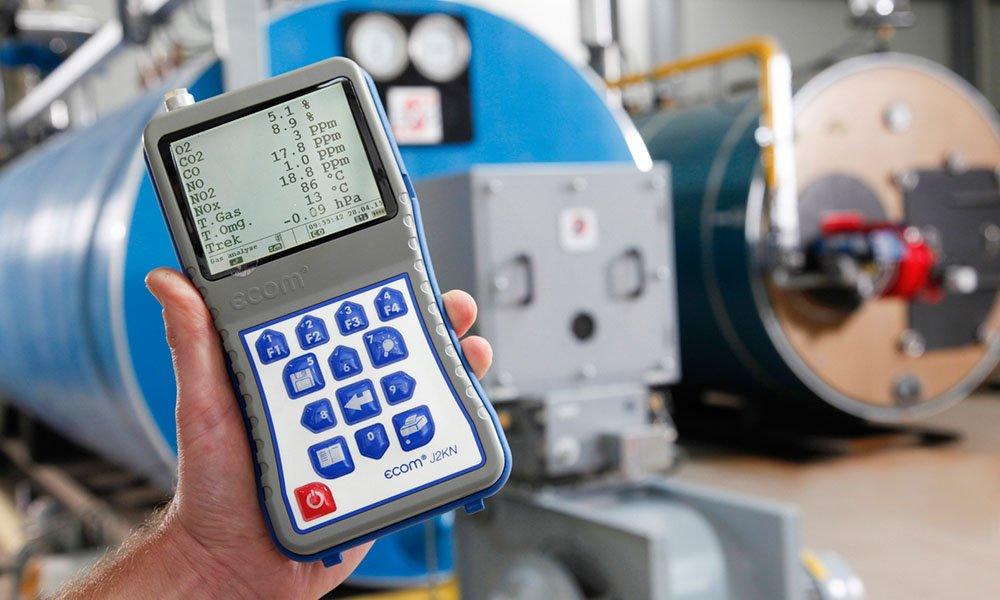 NOx-meting bij gasbranderinstallatie op tuinbouwbedrijf