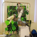 De komkommerpluk-robot KasPR die zes studenten van TU Delft bouwden voor de minor Robotica.