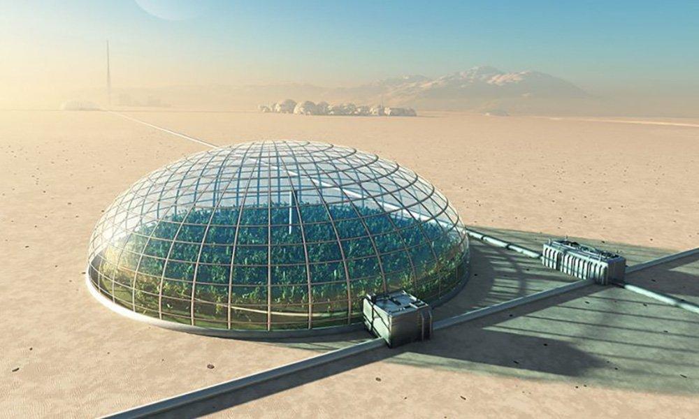 Afgesloten kassen waarbij gebruik wordt gemaakt van hydrocultuur en/of andere manieren van verticaal telen lijken mogelijkheden te zijn voor voedselvoorziening tijdens ruimtemissies.