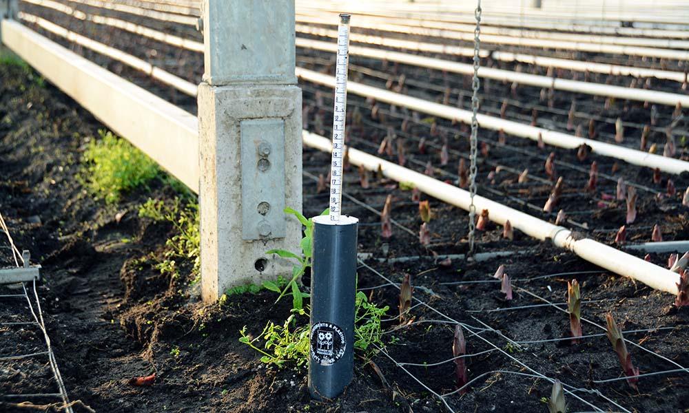 Proefopstelling reductie drainagewater met grondwatermeter