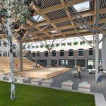 Het Comenius college in Amsterdam krijgt een inpandige kas voor de studierichting Econasium.
