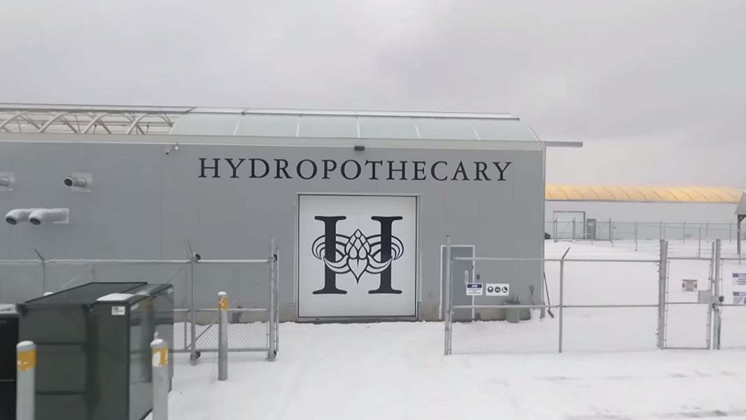 Een kas van Hydropothecary, de Canadese teler van medicinale marijuana waarvoor Havecon kassen gaat bouwen.