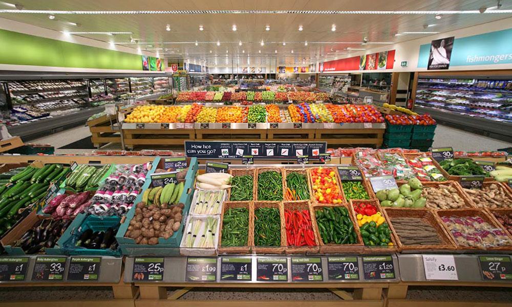 Groenten in de supermarkt