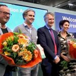 De winnaars van de eerste Greenovation Award op de Royal FloraHolland Trade Fair