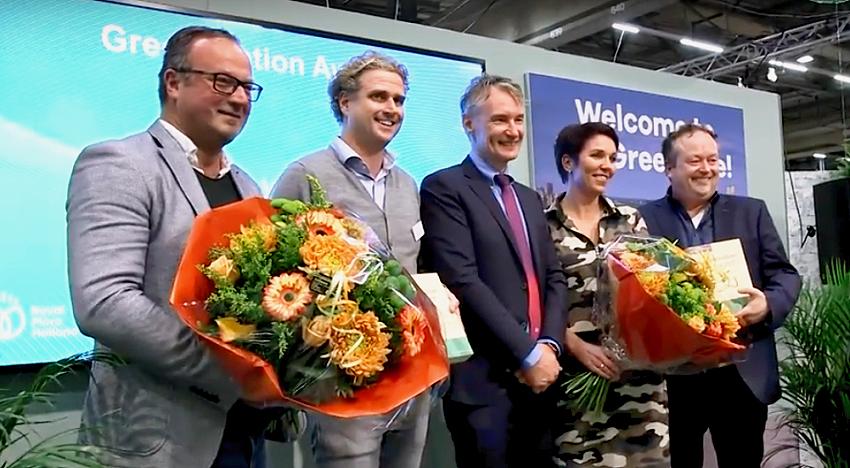 De winnaars van de eerste Greenovation Award op de Royal FloraHolland Trade Fair