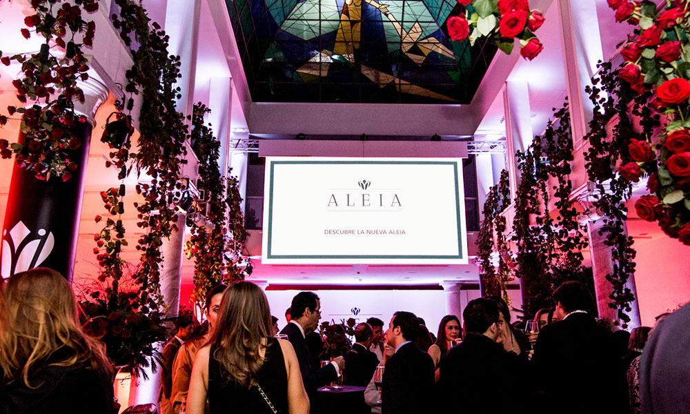 Introductie van label 'Aleia' in het Palacio Neptuno in Madrid.
