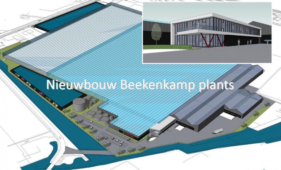 Beekenkamp neemt 3 maanden eerder dan gepland het nieuwe bedrijf van 9 ha in gebruik.