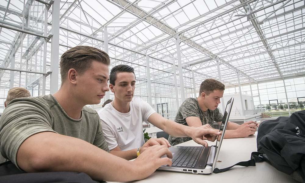 Studenten tijdens een hackathon