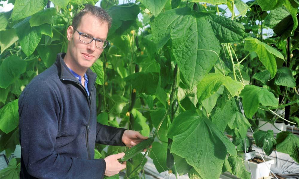 Komkommerteler Corné Stouten uit Oosterland heeft zijn hoop gericht op een nieuw project omtrent spintbeheersing.