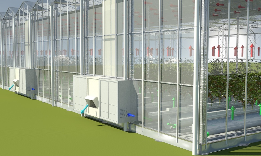De Kas van de Toekomst heeft beglazing die elektriciteit uit zonne-energie kan opwekken.