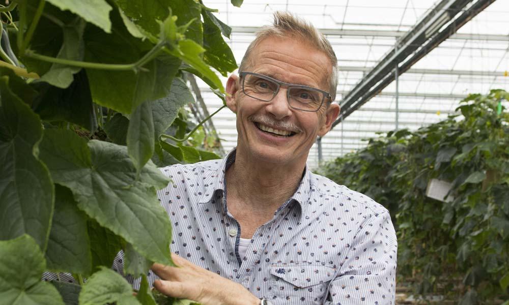 Sinds het is gelukt om komkommerbedrijven in Noordoost-Nederland met gezamenlijke inspanning vrij te krijgen van komkommerbontvirus, reist Ron Peters de wereld over. Hij ondersteunt telers bij het uitvoeren van het strenge hygiëneprotocol dat nodig is om deze virusaantasting een halt toe te roepen.