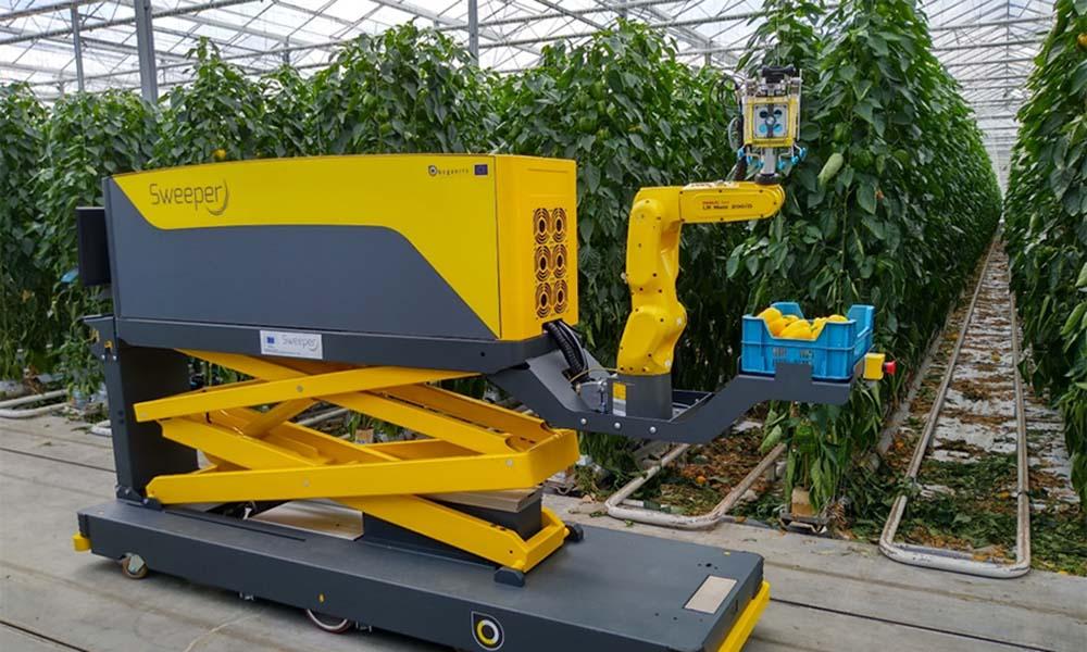 Sweeper robot maakt enorme stappen
