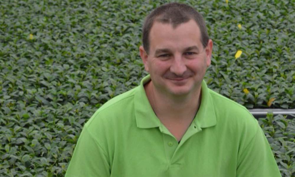 Cris Oostveen, vermeerderaar terrasplanten, heeft baat bij cursus Het Nieuwe Telen