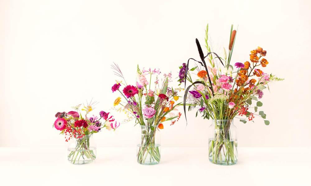 Vaasjes bloemen van online bloemenverkoper Bloomon