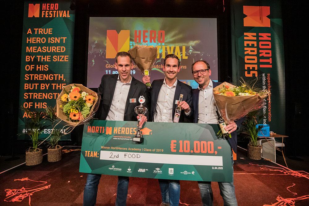 De winnaars van het HortiHeroes Festival: 2nd Food