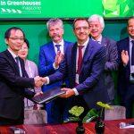 Dutch Greenhouse Delta en Jiashan Sino-Dutch Industrial Park Investment Company hebben een overeenkomst getekend voor de ontwikkeling van een High-Tech Agriculture Park in China.