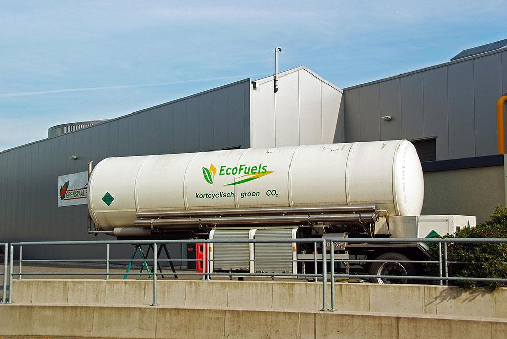 Externe CO2 tank glastuinbouw