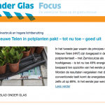 HortiNext Update wordt Onder Glas Focus