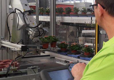 Tray-ontstapelaar en robotarm maken orderverwerking lichter