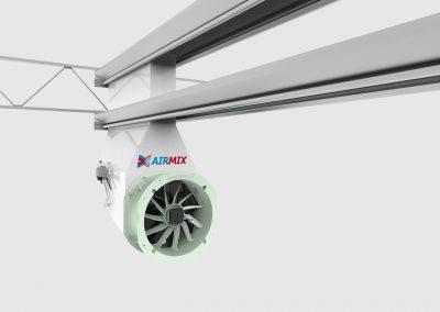 Effectief ventileren en ontvochtigen met gesloten schermdoek