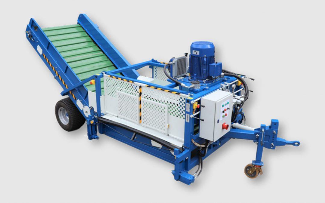 Met elektrische bio-hopper gewassen afvoeren
