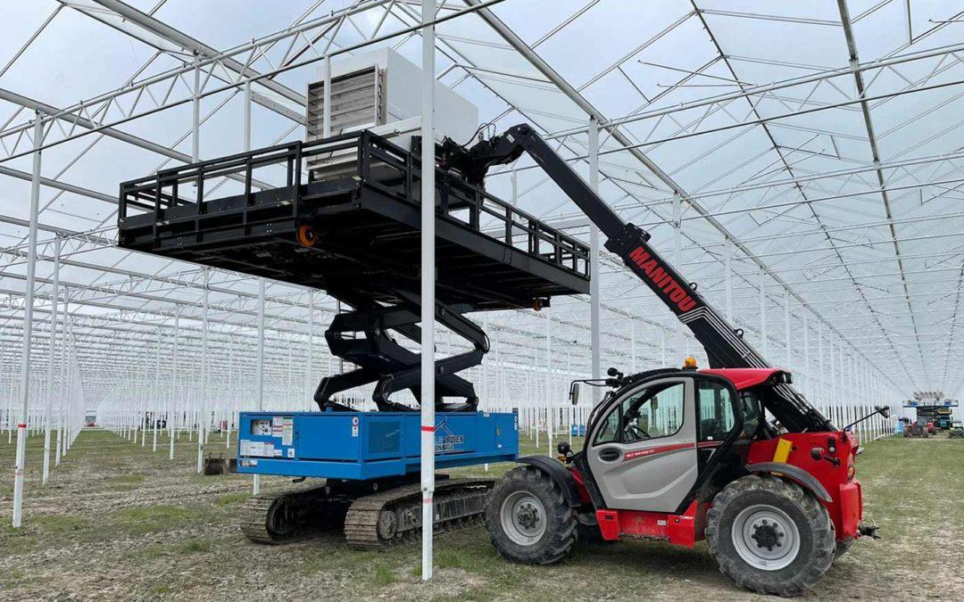 Schenkeveld installeert luchtbehandelingskasten in nieuwe kas